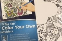 Dividers - Color Your Own - 5 Big Tab
