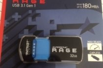 USB 32GB Supersonic RAGE 3.1 Gen 1 Extreme Performance Read up to 180MB/s