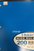 5 Sub CompBook Standards Wide Rule 200 Sheets